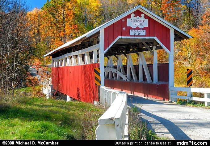 Glessner Covered Bridge picture from Stoneycreek Township, PA taken on October 19, 2008.