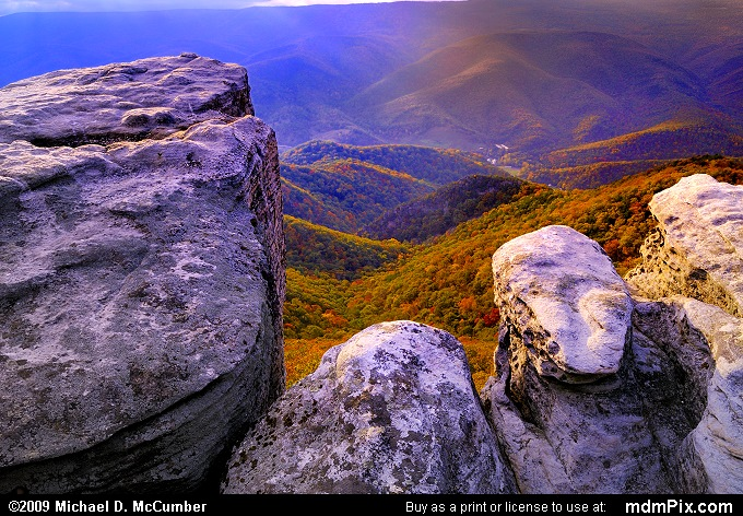 Fall Afternoon on North Fork Mountain in West Virginia