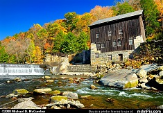 McConnells Mill with Surrounding Fall Foliage