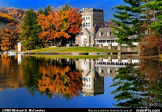 North Park Boathouse Reflection in Fall