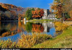 North Park Lake and Boathouse Autumn
