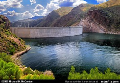 Lake Side of Theodore Roosevelt Dam Arizona