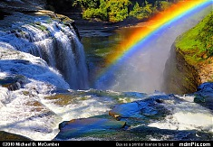 Rainbow Arching Over Upper Falls of Genesee River