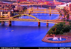 Bridges Crossing the Allegheny River With Point Fountain