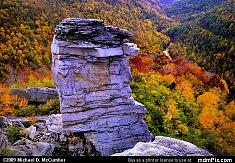 Lindy Point Overlook Rock and Fall Foliage