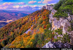 North Fork Mountain Cliffs with Distant Dolly Sods