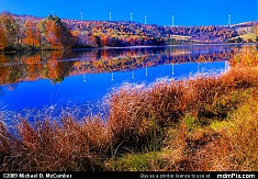 Cranberry Glade Lake Autumn with Windmills
