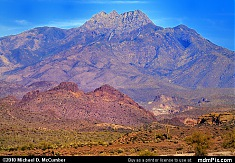 Four Peaks Mountain Viewed from Superstition Mountain