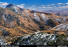 Maverick Peak of the Chiricahua Mountains Dusted in Snow