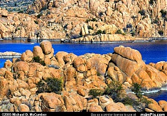 Bubbly Granite Dells Rising from Watson Lake Arizona