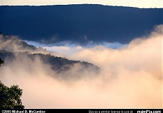 Fog Trapped in Youghiogheny River Gorge at Sunrise
