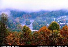 Tharp Knob's View of Youghiogheny Gorge Fog
