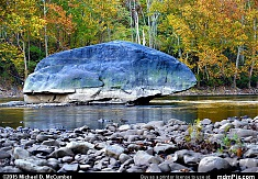 Erratic Blue Limestone Rock in Youghiogheny River