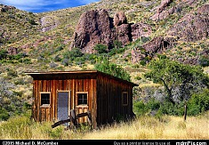 Cox Ranch Shack in a Pinyon-Juniper Grassland