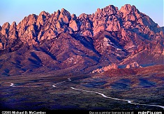Organ Mountains Turned Maroon at Sunset