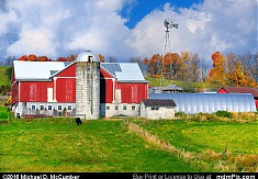 Red Barn on a Hillside Somerset County Farm