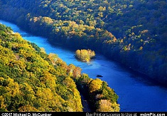 Casparis Overlook's View of Youghiogheny River Island