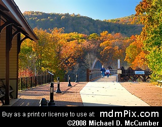 View from Train Station and Low Ohiopyle Bridge