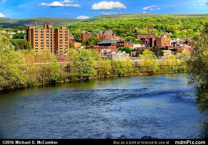 View from Connellsville Memorial Bridge Sidewalk View