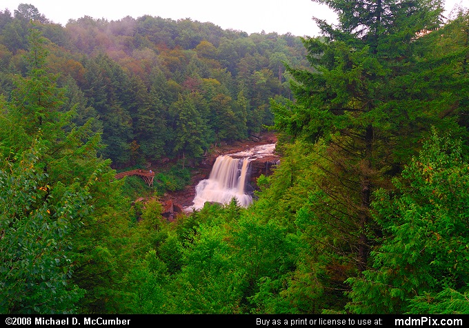Gentle Trail Overlook (Gentle Trail Overlook Picture 004 - September 3, 2006 from Blackwater Falls State Park, West Virginia)