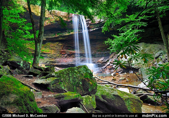 Cucumber Falls (Cucumber Falls Picture 004 - September 5, 2006 from Ohiopyle State Park, Pennsylvania)