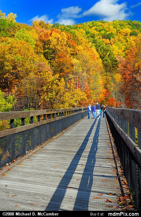 High Ohiopyle Bridge (High Ohiopyle Bridge Picture 021 - October 21, 2006 from Ohiopyle State Park, Pennsylvania)
