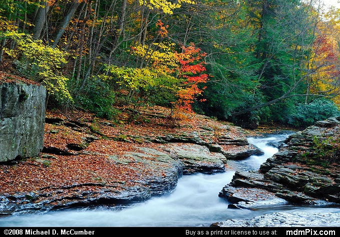 Meadow Run Natural Waterslides (Meadow Run Natural Waterslides Picture 117 - October 21, 2006 from Ohiopyle State Park, Pennsylvania)