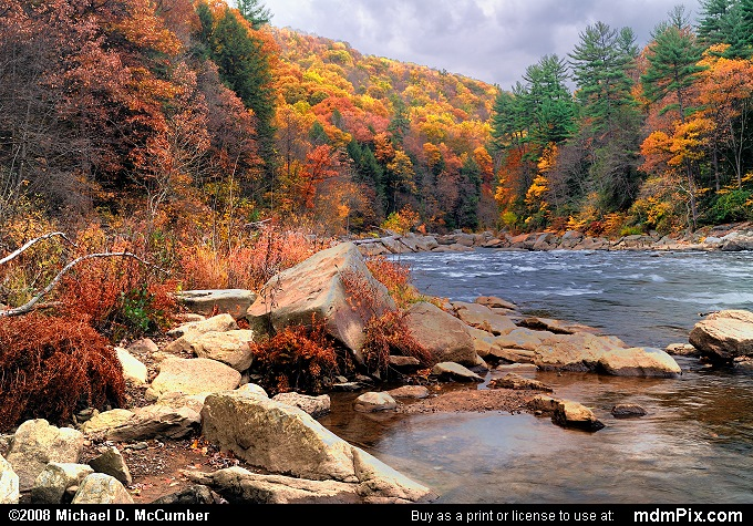 Youghiogheny River (Youghiogheny River Picture 050 - October 25, 2006 from Ohiopyle State Park, Pennsylvania)