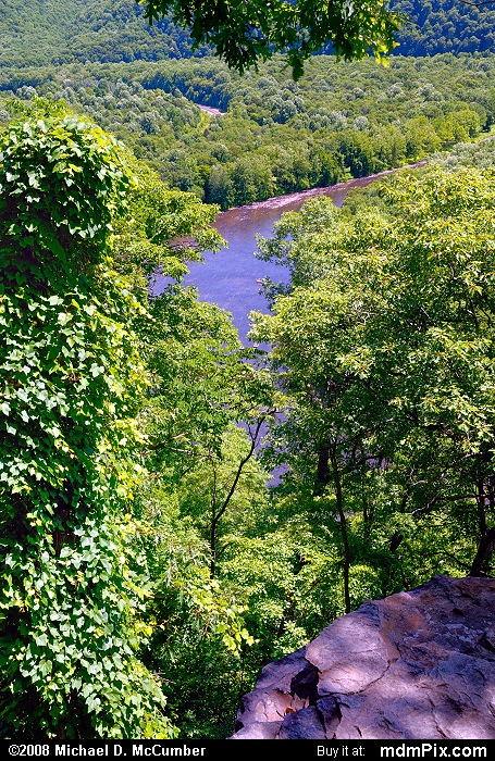 LH Trail's Youghiogheny River Gorge Vista (LH Trail's Youghiogheny River Gorge Vista Picture 012 - July 2, 2007 from Ohiopyle State Park, Pennsylvania)