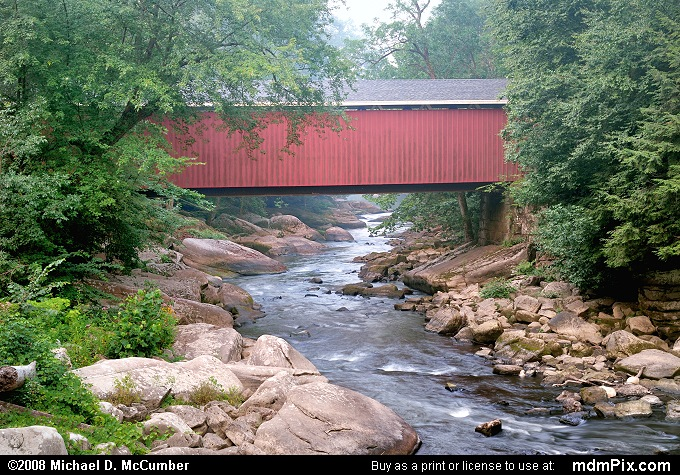 Foggy Morning at the McConnells Mill Covered Bridge