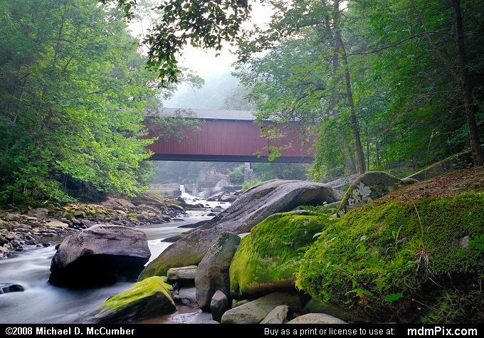 McConnells Mill Covered Bridge (McConnells Mill Covered Bridge Picture 010 - August 3, 2007 from McConnells Mill State Park, Pennsylvania)
