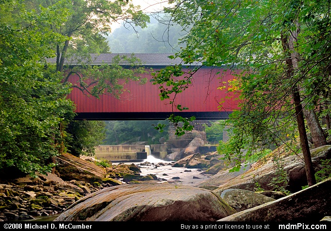McConnells Mill Covered Bridge (McConnells Mill Covered Bridge Picture 011 - August 3, 2007 from McConnells Mill State Park, Pennsylvania)