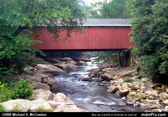 McConnells Mill Covered Bridge (McConnells Mill Covered Bridge Picture 017 - August 3, 2007 from McConnells Mill State Park, Pennsylvania)