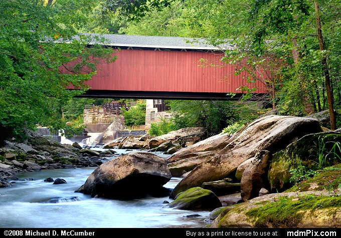 McConnells Mill Covered Bridge (McConnells Mill Covered Bridge Picture 007 - August 17, 2007 from McConnells Mill State Park, Pennsylvania)