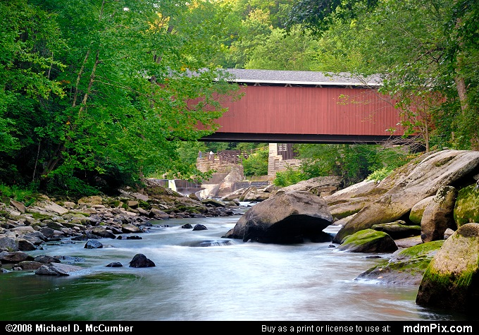 McConnells Mill Covered Bridge (McConnells Mill Covered Bridge Picture 009 - August 17, 2007 from McConnells Mill State Park, Pennsylvania)
