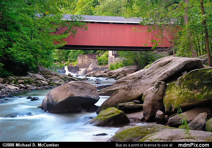 McConnells Mill Covered Bridge (McConnells Mill Covered Bridge Picture 011 - August 17, 2007 from McConnells Mill State Park, Pennsylvania)