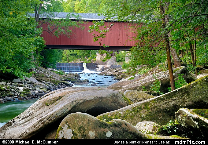 McConnells Mill Covered Bridge over Slippery Rock Creek