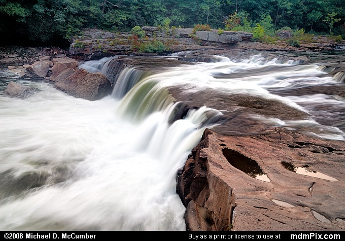 Ohiopyle Falls (Ohiopyle Falls Picture 001 - September 6, 2007 from Ohiopyle State Park, Pennsylvania)