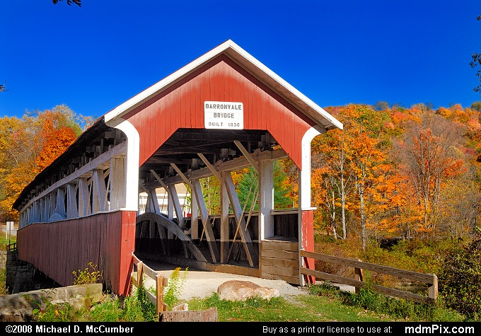 Barronvale Covered Bridge (Barronvale Covered Bridge Picture 028 - October 21, 2007 from Middlecreek Township, Pennsylvania)