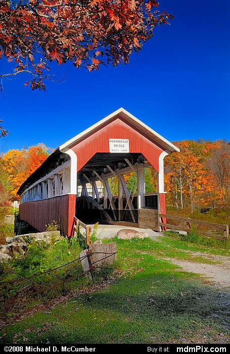 Barronvale Covered Bridge (Barronvale Covered Bridge Picture 029 - October 21, 2007 from Middlecreek Township, Pennsylvania)