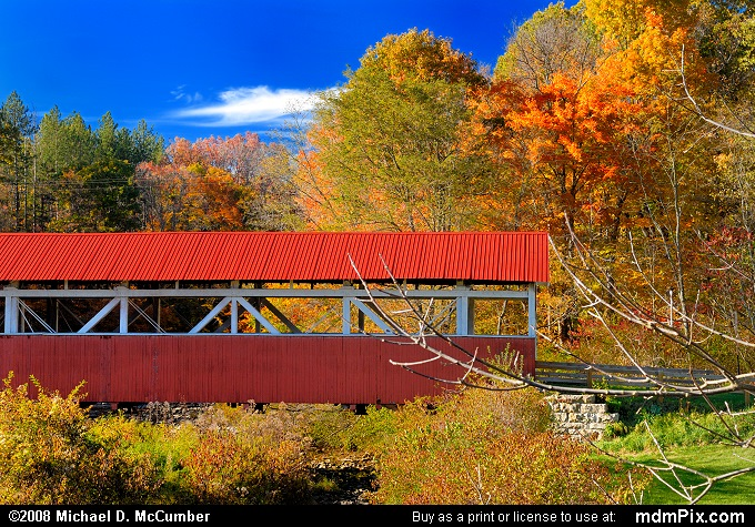 Barronvale Covered Bridge (Barronvale Covered Bridge Picture 031 - October 21, 2007 from Middlecreek Township, Pennsylvania)