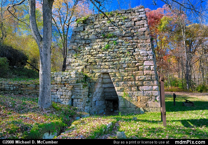 Wharton Iron Furnace (Wharton Iron Furnace Picture 004 - October 29, 2007 from Wharton Township, Pennsylvania)