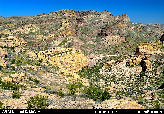 Fish Creek Canyon (Fish Creek Canyon Picture 018 - March 22, 2008 from Superstition Wilderness (Arizona))