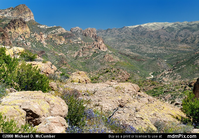 Fish Creek Canyon (Fish Creek Canyon Picture 033 - March 22, 2008 from Superstition Wilderness (Arizona))