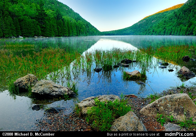 Morning along Bubble Pond in Acadia National Park