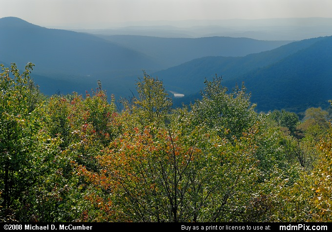 LH Trail's Distant Yough River Gorge View (LH Trail's Distant Yough River Gorge View Picture 016 - September 20, 2008 from PA State Game Land 111)