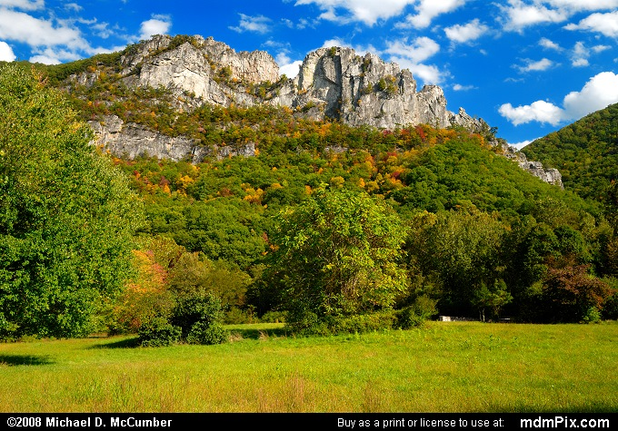 Seneca Rocks (Seneca Rocks Picture 002 - October 4, 2008 from Spruce Knob/Seneca Rocks National Recreation Area)