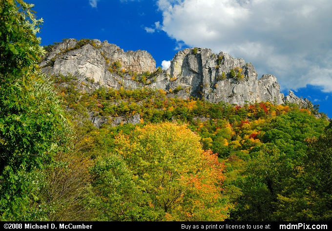 Seneca Rocks (Seneca Rocks Picture 004 - October 4, 2008 from Spruce Knob/Seneca Rocks National Recreation Area)