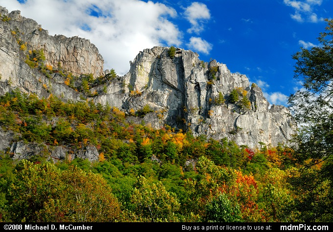 Seneca Rocks (Seneca Rocks Picture 006 - October 4, 2008 from Spruce Knob/Seneca Rocks National Recreation Area)