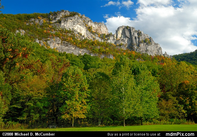 Seneca Rocks (Seneca Rocks Picture 007 - October 4, 2008 from Spruce Knob/Seneca Rocks National Recreation Area)